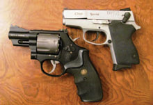 arthritis-friendly concealed carry revolver and semi-automatic handgun