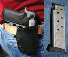 The Smith & Wesson Concealed Carry Guns in a ccw holster.