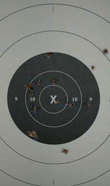 Shooting Target After Shooting with the TSW 3913 Concealed Carry Gun