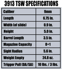 The Smith & Wesson 3913 TSW Firearm Specifications