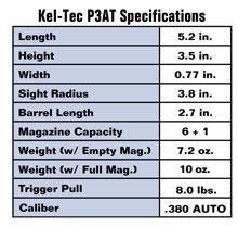 Concealment: Kel-Tec P3AT Specifications