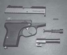 Concealed Firearm: The R-9 disassembled to its basic components for cleaning