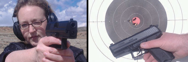 Conceal and carry guns at target practice