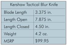 Kershaw Tactical Blur Knife Specs