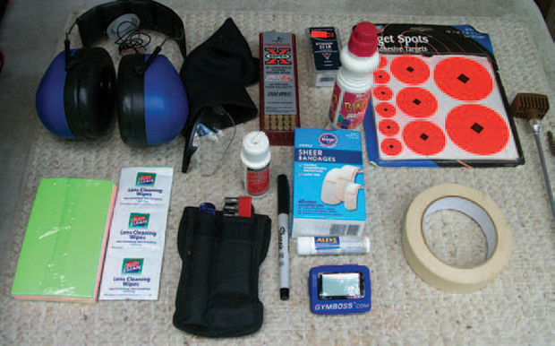 Contents of range kit.