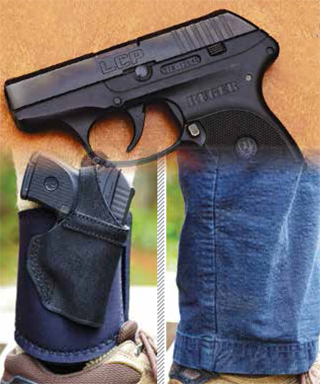The perfect combination for the author turned out to be the Ruger LCP and the Galco Ankle Glove Lite. The pistol is thin and light allowing it to virtually disappear when carried on the in the Galco rig. Finally, a comfortable ankle holster.