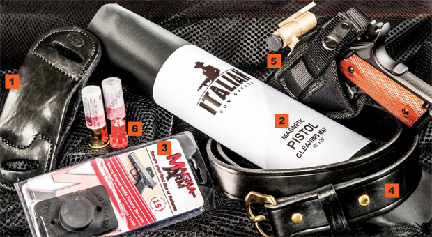 Gear We Love — From Shottist Yaqui Holsters to Kaviar 26L Frangible 12 Gauge Rounds.