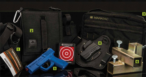 Concealed Carry Gear We Love — from the Wilderness Tactical Frequent flyer Belt to the Maratac Tac-Pad to the Range Systems Quik Stand.