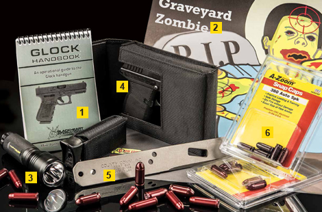 Gear We Love — from the Glock Handbook by Mike Pannone to the Rayovac Roughneck Tactical Flashlight to the A-Zoom Precision Snap Caps.