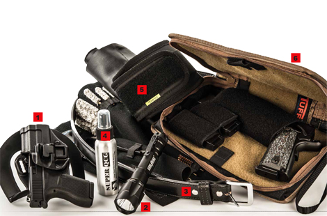 """Gear We Love — from the BLACKHAWK! SERPA Concealedment Holster to """"The Investigator"""" CCW Belt from Daltech to the TUFF Products Un-Planned Day Planner."""