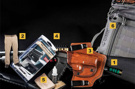 Gear We Love — from the Safariland SpeedFeed Stock With Magazine Tube to the MTR Custom Deluxe Throroughbred Holster to the Yukon Tactical Overwatch.