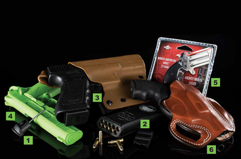 Gear We Love — from the Vickers Tactical Grip Plug/Glock Tool to the Doubleclick SafeCarry Ranger to the DeSantis Speed Scabbard.
