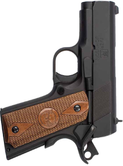 """An entry in the """"value"""" segment of the mini-1911 market, the Iver Johnson Thrasher is truly a mini 1911 and extremely at home in a small (albeit experienced) hand."""
