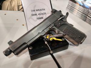 Black DW Wraith 3 1911-style semiautomatic handgun