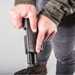 """Though the most efficient manner in which to charge a pistol is the """"push-pull"""" two-handed method, you cannot guarantee that both hands will even be functional during an emergency."""