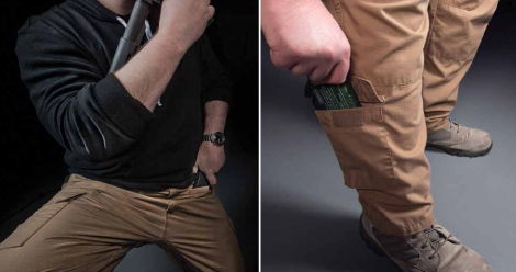Models, such as the Operator Pant from LAPoliceGear.com, offer pockets almost everywhere, from slash pockets on the front of the thighs for pistol and rifle magazines to pockets on the lower legs that excel at toting lighter, less-often-accessed items, such as emergency medical gear and optic batteries.