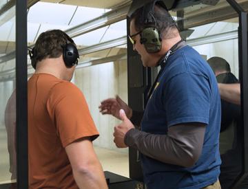 Gun Range Booth