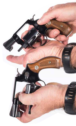 QUALITY HANDIWORK: Proper revolver manipulation, including how to best position it for reloading, is essential for success.