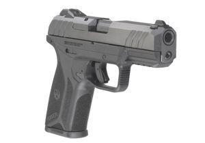 Isolated shot of a Ruger Security 9 self-defense pistol