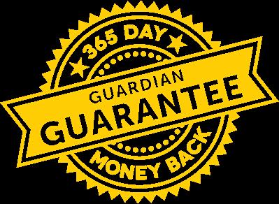 365 Day Guardian Guarantee Money Back Seal