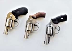 Three different revolvers
