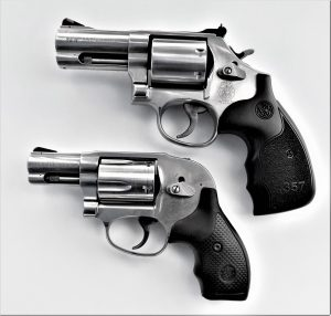 Conventional and concealed-hammer revolvers