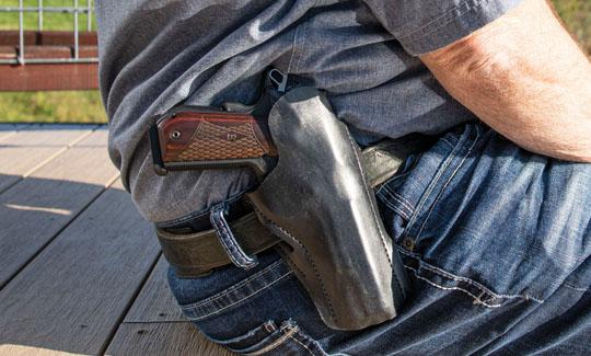 holster on belt