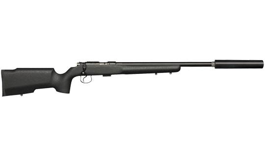 Rifle with suppressor