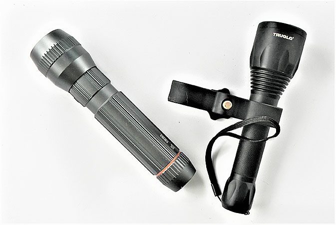 Two flashlights for your emergency preparedness kit