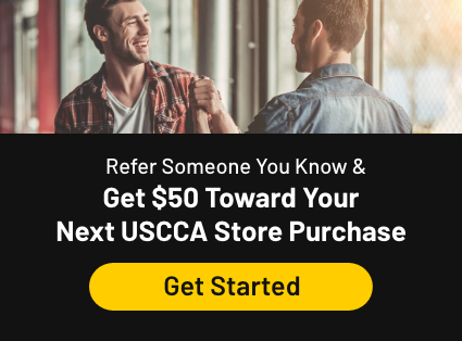 Refer someone you know and get $50 toward your next USCCA store purchase